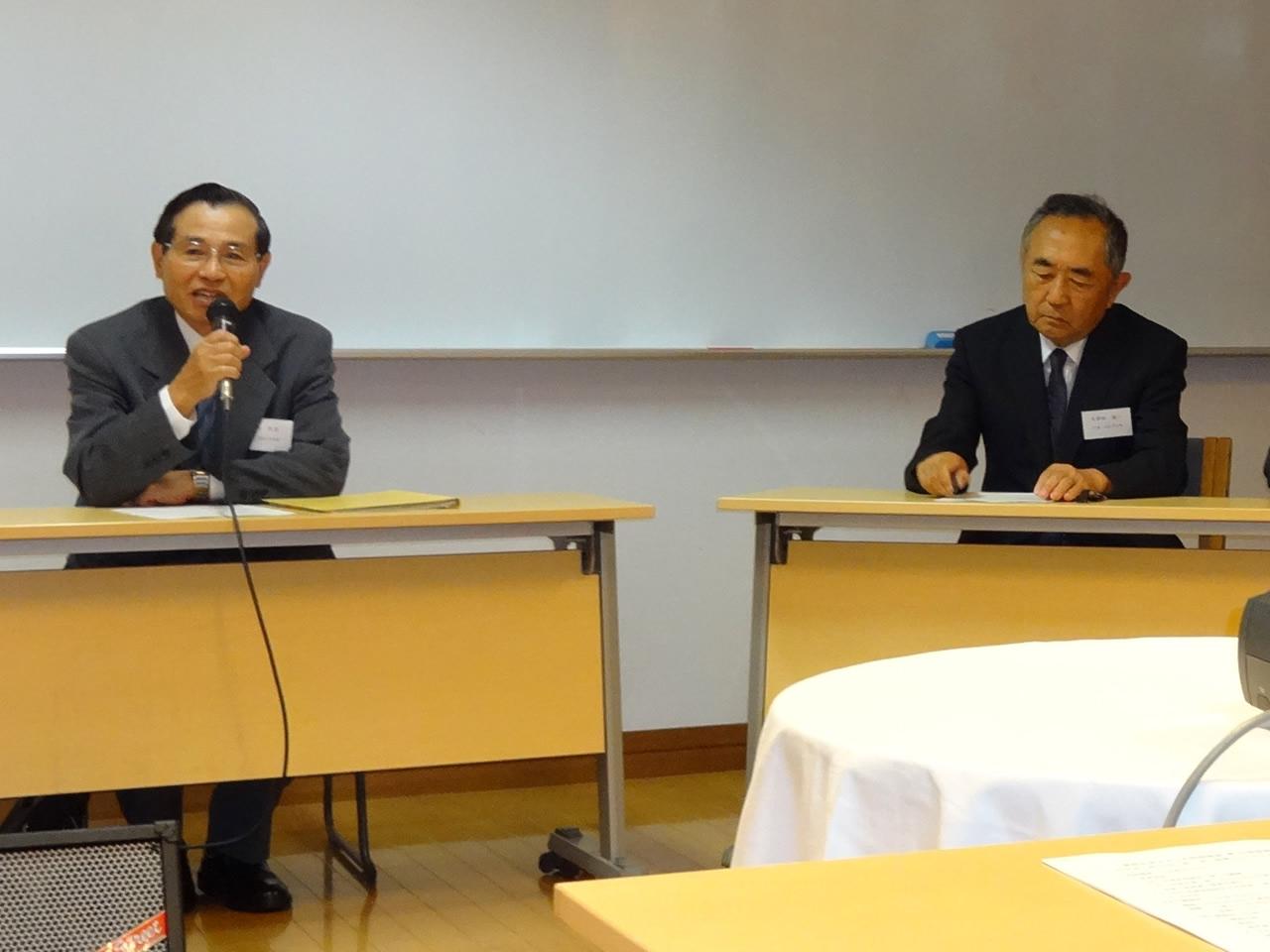 高橋前会長と久保田新会長